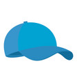 blue baseball cap icon flat style vector image vector image