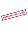 Brasilia Sao Paulo Rubber Stamp vector image vector image