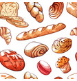 bread products pattern on vector image