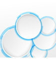 Bright blue circle design elements vector image vector image