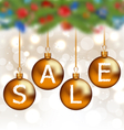 Brown glossy balls with lettering sale Christmas vector image vector image