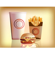 Burger fries cola vector image vector image