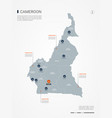 cameroon infographic map vector image vector image