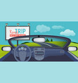 car inside view on urban landscape from vector image vector image