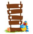 Cartoon Parrot Signboard vector image vector image