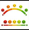 cartoon rating feedback emotion scale design vector image