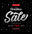 christmas sale happy new year banner vector image vector image