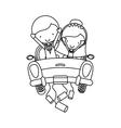 Couple of newlyweds character vector image vector image