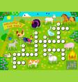crossword puzzle game with domestic farm animals