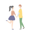 dating teenage woman in short skirt and man vector image vector image