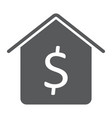 dollar house glyph icon real estate and home vector image vector image