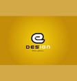 e alphabet letter white on yellow background vector image
