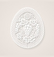 easter egg with floral decoration vector image vector image