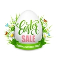 Easter sale background with eggs and spring flower