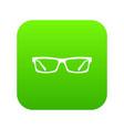 eye glasses icon digital green vector image vector image