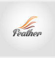 feather - wing logo template vector image