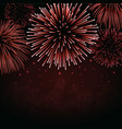 firework sparkle background card vector image vector image