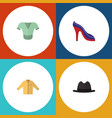 flat icon clothes set of banyan heeled shoe vector image vector image