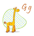 g for giraffe vector image