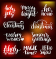 handwritten christmas and new year vector image vector image