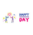 happy friendship day friend love concept banner vector image vector image