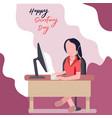 happy secretary day vector image
