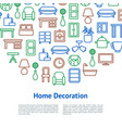 home decoration concept card vector image