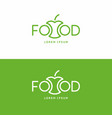 inscription food modern sign and emblem vector image vector image