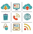 Internet network communication mobile devices line vector image vector image