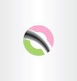 letter o logotype icon symbol design vector image