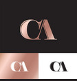logo c and a monogram compound vector image vector image