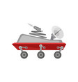 mars exploration rover with antenna and satellite vector image vector image