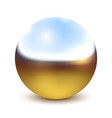 metal bright chrome ball sphere over white vector image vector image