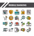 mobile banking shopping or payment market online vector image vector image
