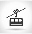 monochromatic cable railway icon with hovering vector image vector image