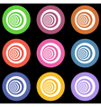 multiple vortex with concentric stripes in differe vector image vector image