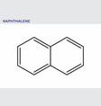 naphthalene hydrocarbon molecule vector image vector image