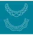Neckline design vector image