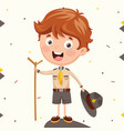 of a scout kid vector image vector image