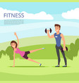 open air outdoor sport or fitness training with vector image vector image