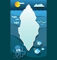 paper iceberg in antarctica deep cold ocean with vector image