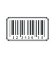 parcel shipping barcode isolated icon coding and vector image
