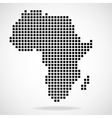 Pixel map of Africa vector image