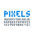pixel trendy typeset simple font system computer vector image vector image