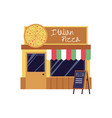 pizza restaurant and takeaway pizza food shop flat vector image