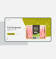 plant based vegetarian bacon beyond meat in vector image vector image