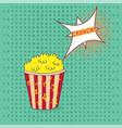 pop art popcorn vector image