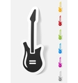 realistic design element electric guitar vector image vector image