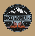 Rocky Mountains emblem vector image vector image