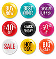 sale badge isolated white background vector image vector image